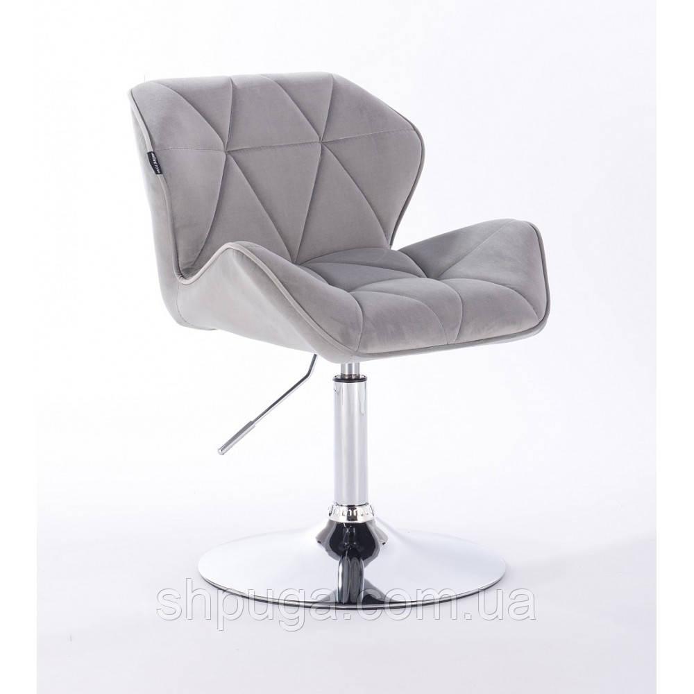 Кресло  HR111N стальной велюр