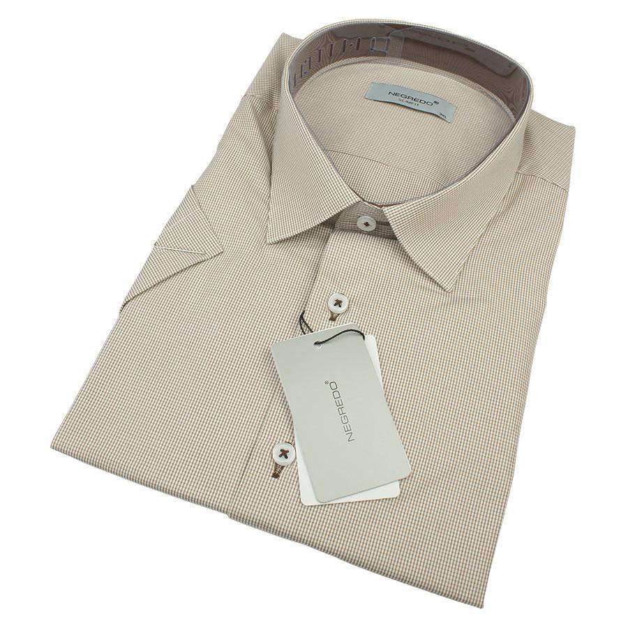 Мужская приталенная рубашка Negredo 0330 В Slim С размер 3XL большого размера