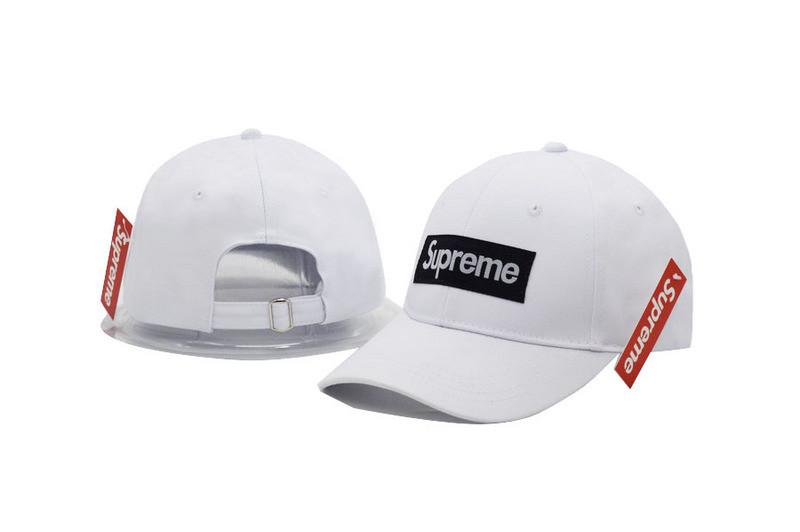 Кепка Supreme White/Black Бейсболка Белая Суприм