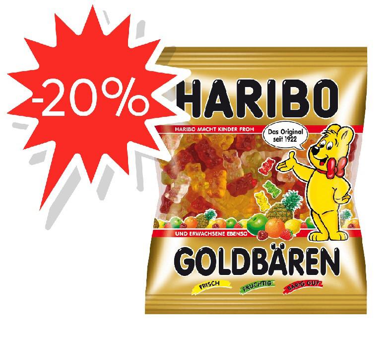 Цукерки жувальні Haribo 100г Золоті Ведмеді