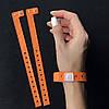 Контрольные виниловые браслеты на руку с логотипом для посетителей L - тип 16 мм Orange