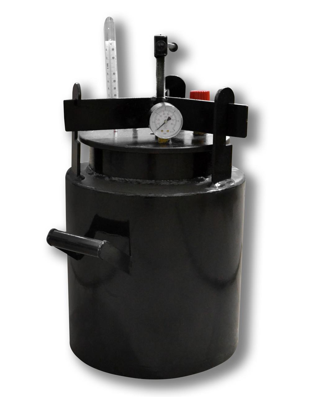 Недорогой автоклав бытовой Че16 (черная сталь / 16 банок 0,5)