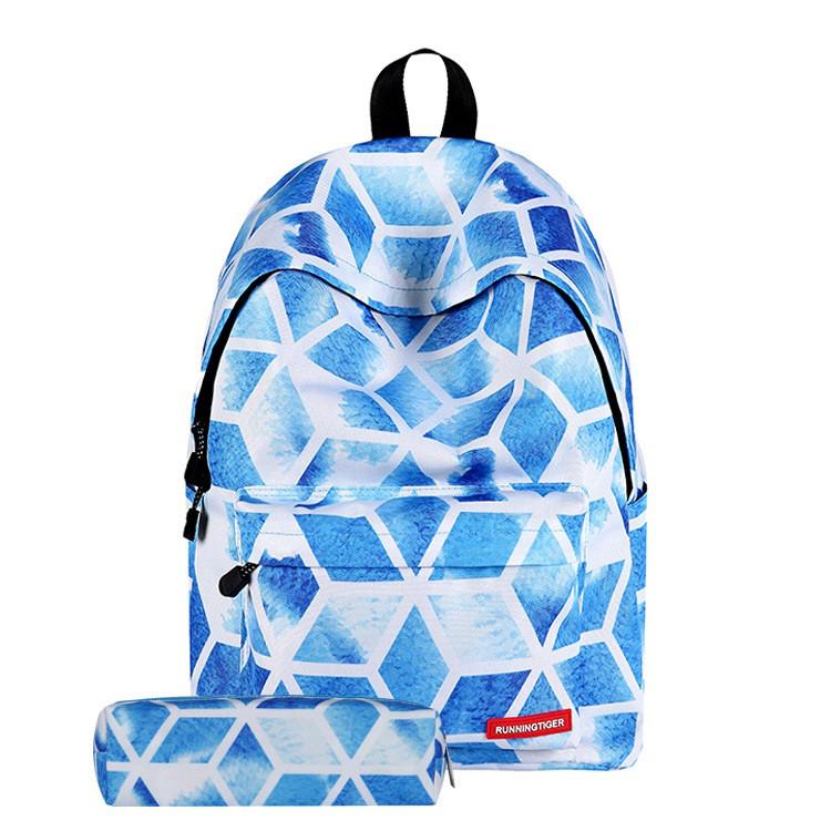 Школьный рюкзак с пеналом голубого цвета