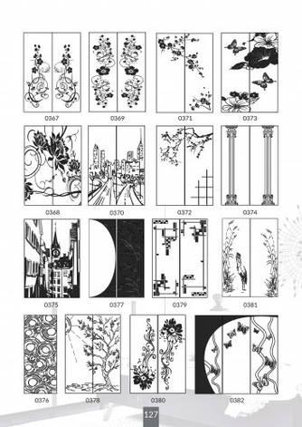 Шкафы купе под заказ, художественная обработка в матовый дизайн, Платон 427, фото 2