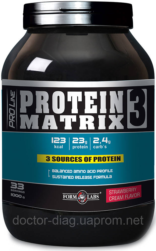 Form Labs Протеин Form Labs Protein Matrix 3, 1000 г (клубника)