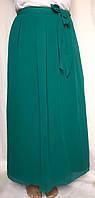 Юбка нарядная женская Marks&Spencer, бирюзовая, шифоновая, большой размер 52/56, фото 1