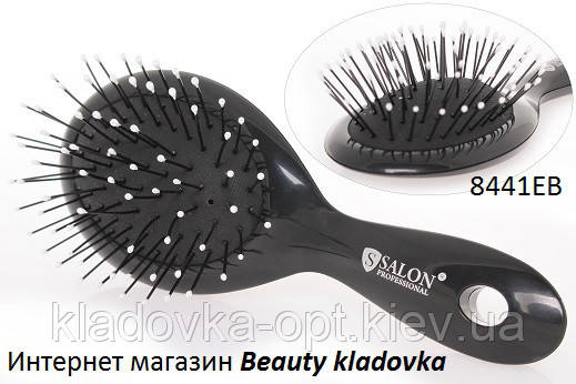 Расчёска массажная Salon Professional 8441 EB цвет черный, белый