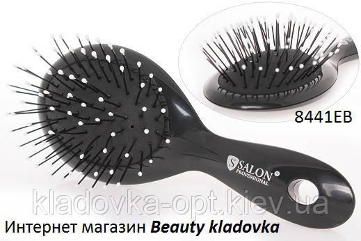 Расчёска массажная Salon Professional 8441 EB цвет черный, белый, фото 2