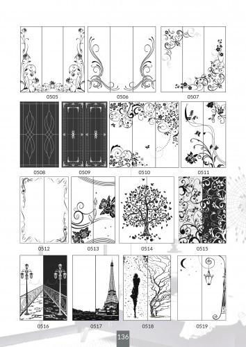Шкафы купе под заказ, художественная обработка в матовый дизайн, Платон 436