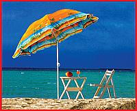Зонт 180см пластмассовые спицы с наклоном, фото 1