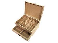 Ящик органайзер для ниток, шитья, рукоделия. Заготовка из МДФ для декупажа или росписи ОД-06