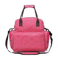 Сумка SUNROZ Mummy Bag мультифункциональный органайзер для мамы с ковриком для пеленания Розовый(SUN0629)