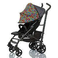 Цветной двойной солнцезащитный козырек для коляски 2 в 1 с черной москитной сеткой Color Must Have Shade