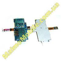 Шлейф SIM+MEMORY Samsung I9000 I9100 I9001 Оригинал