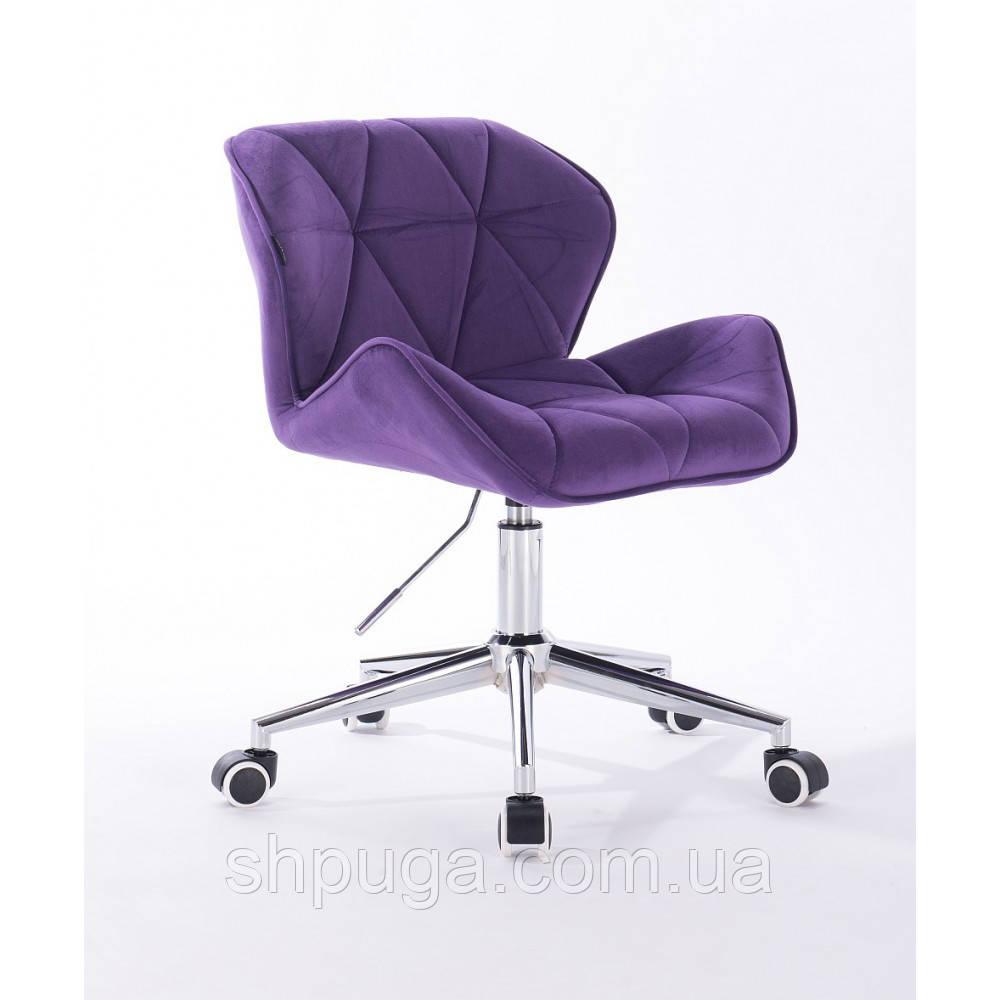 Кресло HR111K фиолетовый велюр