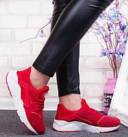 Кроссовки женские Nike Air Huarachi красные, фото 1