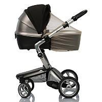 Двойной солнцезащитный козырек для коляски 2в1 с бежевой москитной сеткой / козырек от солнца Must Have Shade