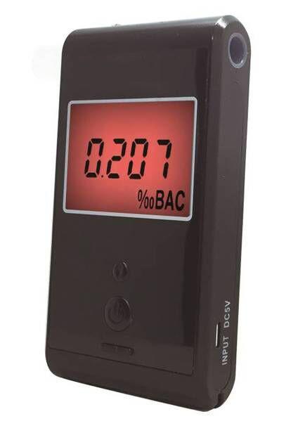 Алкотестер FIT Smart AT007 с электрохимическим датчиком, калибровка ; 0,00-5,00‰; память на 10 тестов
