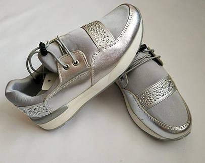 Детские кроссовки серебряные Tom.m 33, 34, 35, 36, 37, 38 р