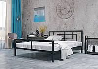 Кровать металлическая Квадро Чёрный Бархат 80*190 (Металл дизайн)