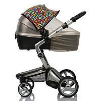 Цветной двойной солнцезащитный козырек для коляски 2 в 1 с бежевой москитной сеткой Color Must Have Shade