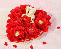 Конфеты Влюбленное сердце с мишкой