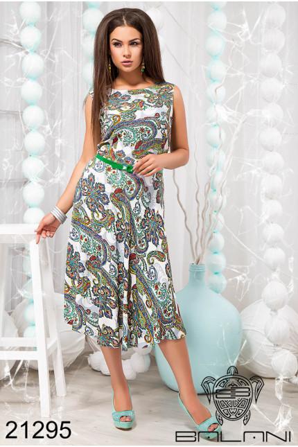 Летнее платье без рукавов купить недорого в интернет магазине Украина  р.48-54