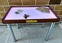 Светодиодный стол МАКСИ цветной - Ясень /1000×600