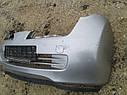 Бампер передний Nissan Micra K12 2002-2010г.в. 3дв. серебро, фото 2