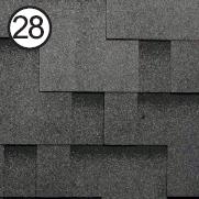 Битумная черепица Roofshield / Руфшилд Модерн №28 (Бархатно-черный)