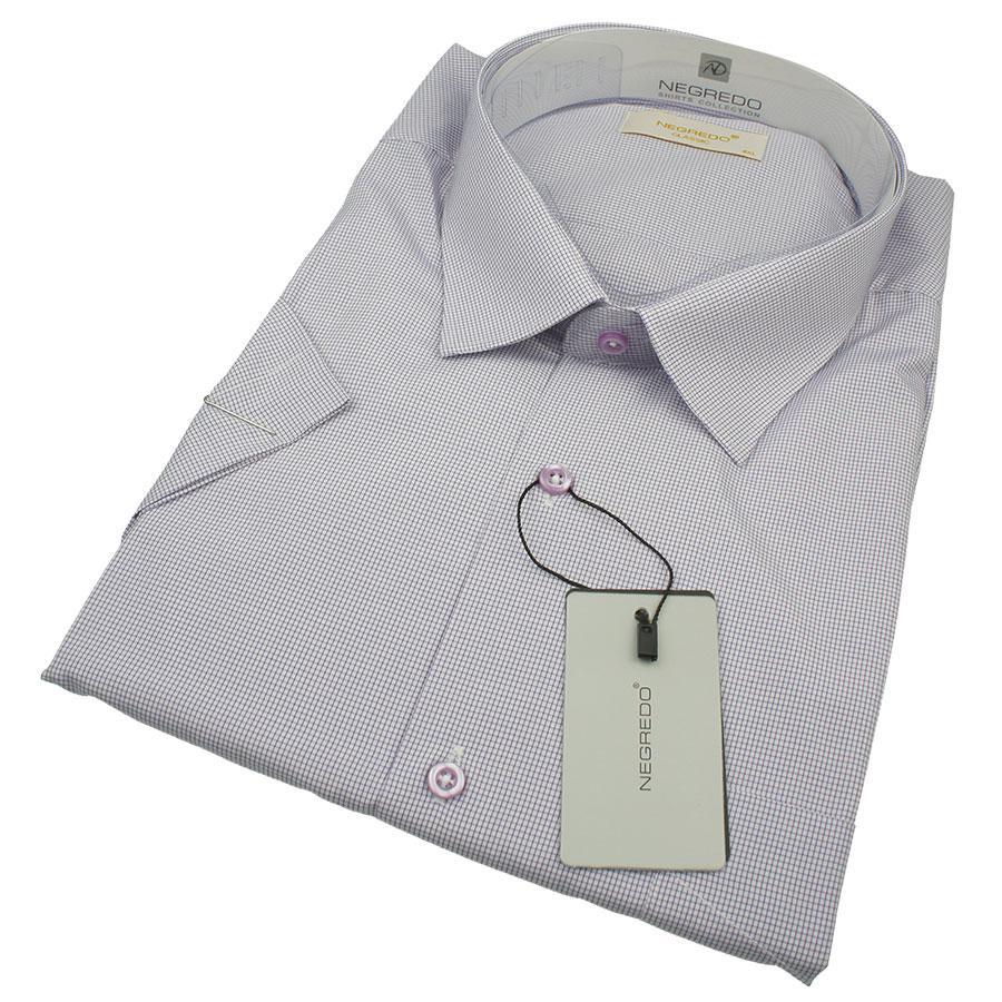 Чоловіча классична сорочка в клітинку Negredo 0330 В Сlassic C розмір 4XL великого розміру