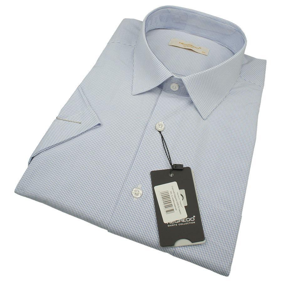 Мужская рубашка в клеточку Negredo 0330 В Classic С размер 3XL большого размера