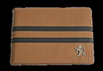 Кожаная обложка для прав Carrs с логотипом PEUGEOT коричневая (PEG19)