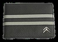 Кожаная обложка для прав Carrs с логотипом CITROEN черная (CIT17)