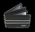 Кожаная обложка для прав Carrs с логотипом AUDI черная (AU01), фото 3