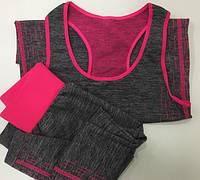 Жіночий одяг для фітнесу, йоги, бігу YOGA WEAR A SUIT SLIMMING, майка+лосіни