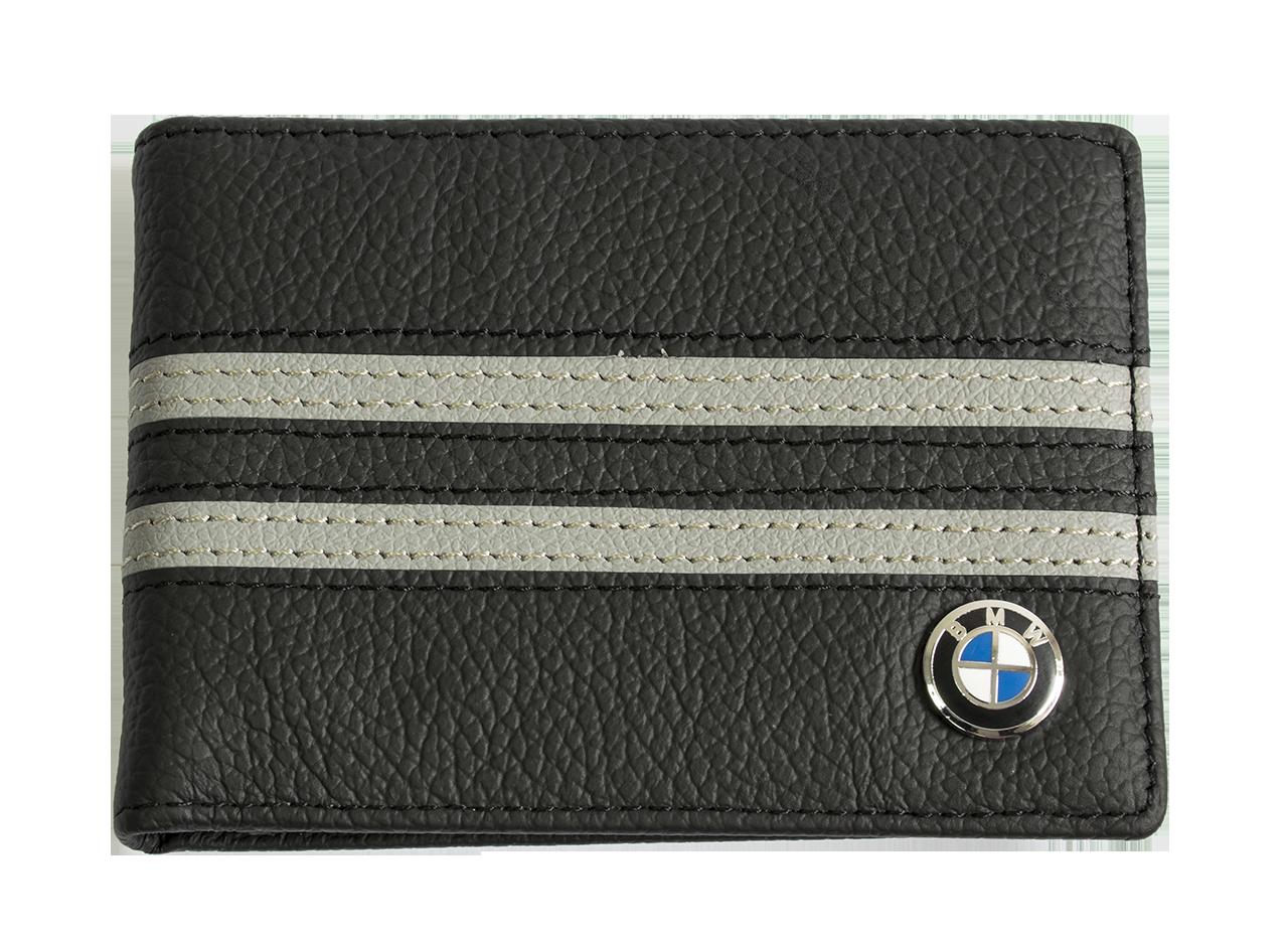 Кожаная обложка для прав Carrs с логотипом BMW черная (BM12)