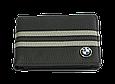 Кожаная обложка для прав Carrs с логотипом BMW черная (BM12), фото 2