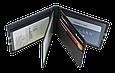 Кожаная обложка для прав Carrs с логотипом SKODA черная (SK22), фото 4