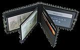 Шкіряна обкладинка для прав Carrs з логотипом SKODA чорна (SK22), фото 7