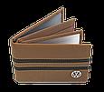 Кожаная обложка для прав Carrs с логотипом VOLKSWAGEN коричневая (VW04), фото 3
