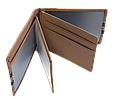 Кожаная обложка для прав Carrs с логотипом VOLKSWAGEN коричневая (VW04), фото 5