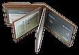 Кожаная обложка для прав Carrs с логотипом VOLKSWAGEN коричневая (VW04), фото 8