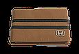 Кожаная обложка для прав Carrs с логотипом HONDA коричневая (HON08), фото 2