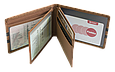 Кожаная обложка для прав Carrs с логотипом HONDA коричневая (HON08), фото 9