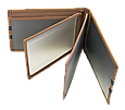Кожаная обложка для прав Carrs с логотипом RENAULT коричневая (REN20), фото 6