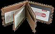 Кожаная обложка для прав Carrs с логотипом RENAULT коричневая (REN20), фото 9