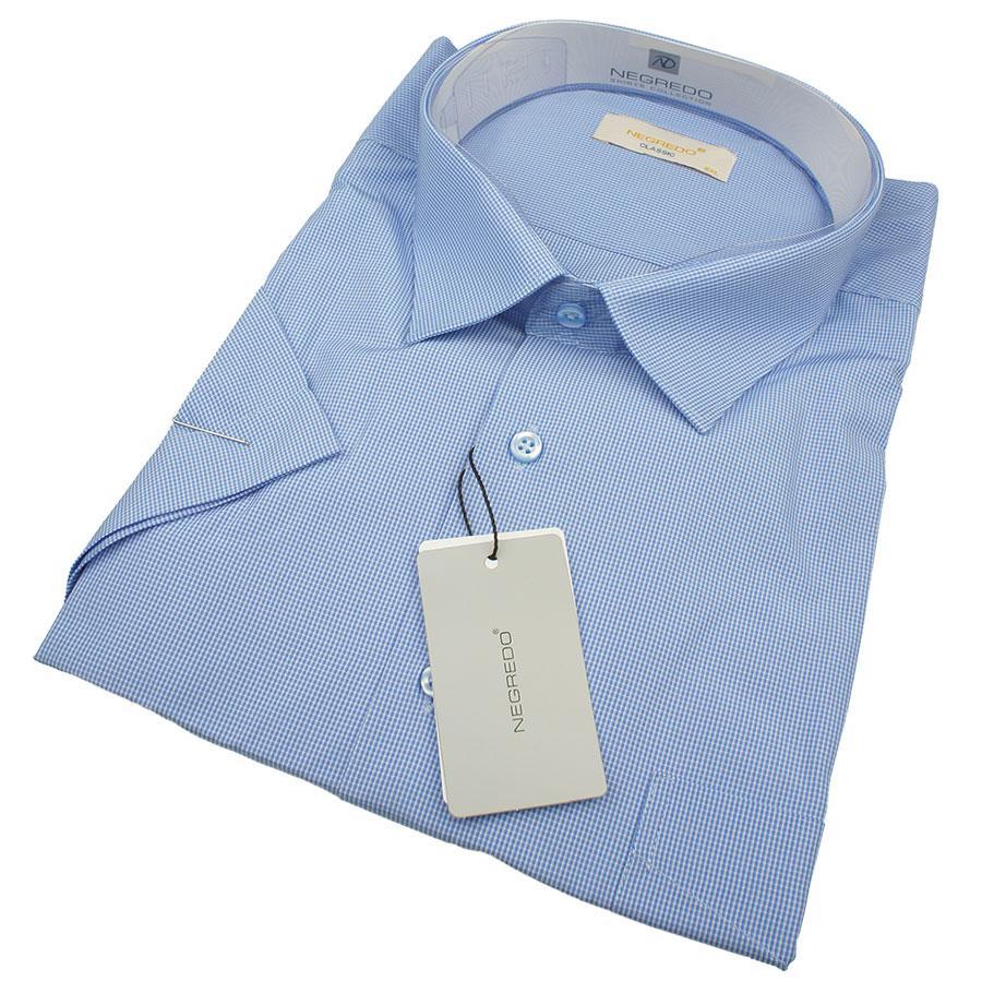 4a03caf54ca5821 Мужская летняя рубашка в клеточку Negredo 0330 В Classic С размер 5XL  большого размера
