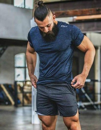 Мужские темно-серые летние шорты
