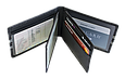 Кожаная обложка для прав Carrs с логотипом SUBARU черная (SUB21), фото 4
